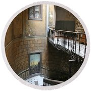 Artistic Staircase In Tbilisi Round Beach Towel