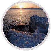 Artistic Sunrise Round Beach Towel