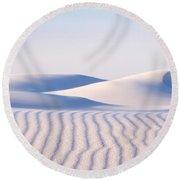 Artistry In The Sand Round Beach Towel
