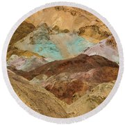 Artist's Paint Palette Abstract Round Beach Towel