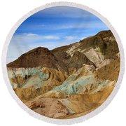 Artists Palette Death Valley National Park Round Beach Towel