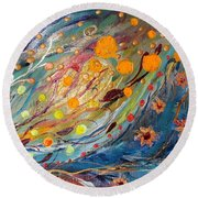 Artwork Fragment 02 Round Beach Towel