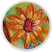 Artwork Fragment 103 Round Beach Towel