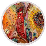 Artwork Fragment 59 Round Beach Towel