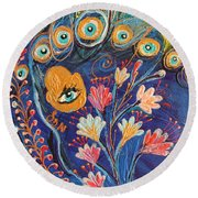Artwork Fragment 79 Round Beach Towel
