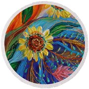 Artwork Fragment 80 Round Beach Towel