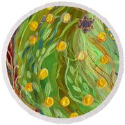 Artwork Fragment 81 Round Beach Towel