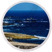 Aruba Coast Round Beach Towel