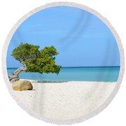 Aruba Divi Divi Tree Round Beach Towel