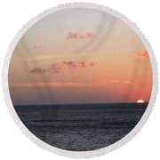 Aruba Sunset Round Beach Towel