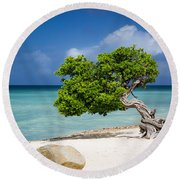 Aruba Tree Round Beach Towel
