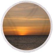 Aruban Sunset Round Beach Towel