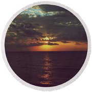 As Day Turns Into Night Round Beach Towel by Laurie Search