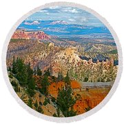 As Far As The Eye Can See From Farview Point In Bryce Canyon-utah   Round Beach Towel
