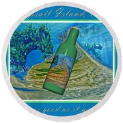 As Good As It Gets Round Beach Towel