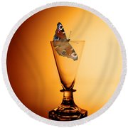 As Light As A Butterfly Round Beach Towel