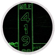 As Pure As It Gets In Green Neon Round Beach Towel