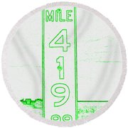 As Pure As It Gets Inverted Round Beach Towel