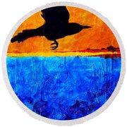As The Crow Flies Round Beach Towel