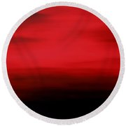 As The Evening Fades Round Beach Towel
