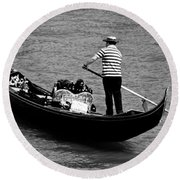 As Time Goes By Round Beach Towel