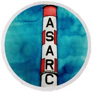 Asarco In Watercolor Round Beach Towel