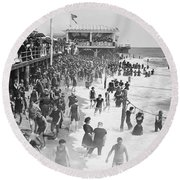 Asbury Park - New Jersey - 1908 Round Beach Towel
