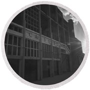 Asbury Park Nj Casino Black And White Round Beach Towel