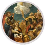 Ascension Of Christ Round Beach Towel