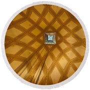 Ascent Into The Mole Round Beach Towel