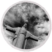Ascent To Heaven Round Beach Towel