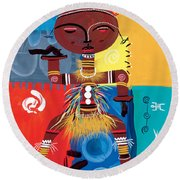 Ashanti Round Beach Towel