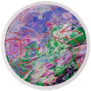 Ashes In The Wind Round Beach Towel