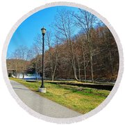 Ashuelot River In Hinsdale Round Beach Towel