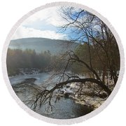 Ashuelot Sunrise Round Beach Towel