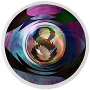 Ask Again Later Round Beach Towel