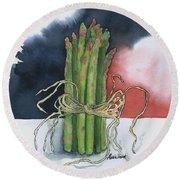 Asparagus In Raffia Round Beach Towel