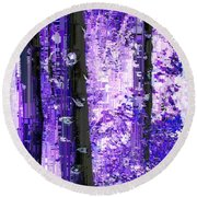 Aspen Grove 5 Round Beach Towel