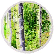 Aspen Grove 6 Round Beach Towel