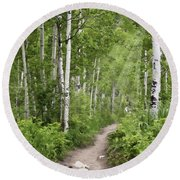 Aspen Path Round Beach Towel