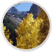 Aspen Window Round Beach Towel