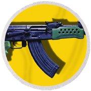 Assault Rifle Pop Art - 20130120 - V2 Round Beach Towel