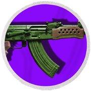 Assault Rifle Pop Art - 20130120 - V4 Round Beach Towel