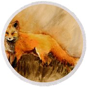 Assessing The Situation Antiqued Round Beach Towel