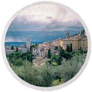 Assisi  Round Beach Towel