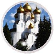 Assumption Cathedral Yaroslavl Russia Round Beach Towel