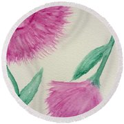 Aster In The Pink Round Beach Towel