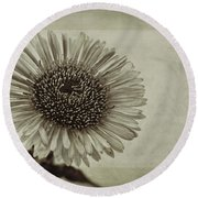 Aster With Textures Round Beach Towel