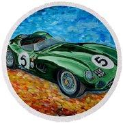 Aston Martin Dbr1 Round Beach Towel