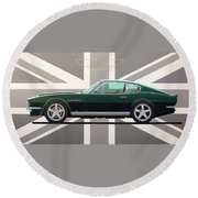 Aston Martin V8 Vantage Round Beach Towel